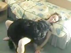 mi tia con mi perro