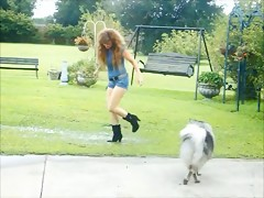 Video XXX – Woman with dog